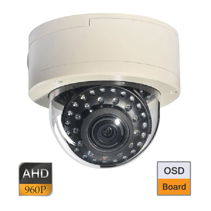CCTV AHD 1.3MP 960P OSD 2.8-12mm Lens Vandal Proof Dome Camera 35IR