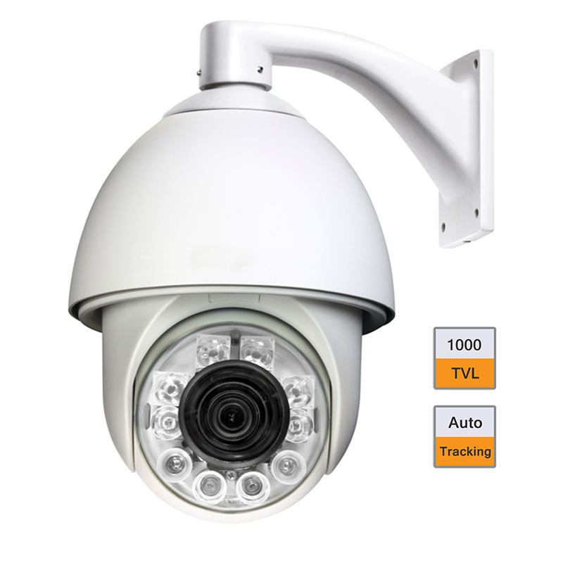 "6"" 1000TVL Auto Tracking CCTV Security High Speed Dome PTZ Camera 22X ZOOM"