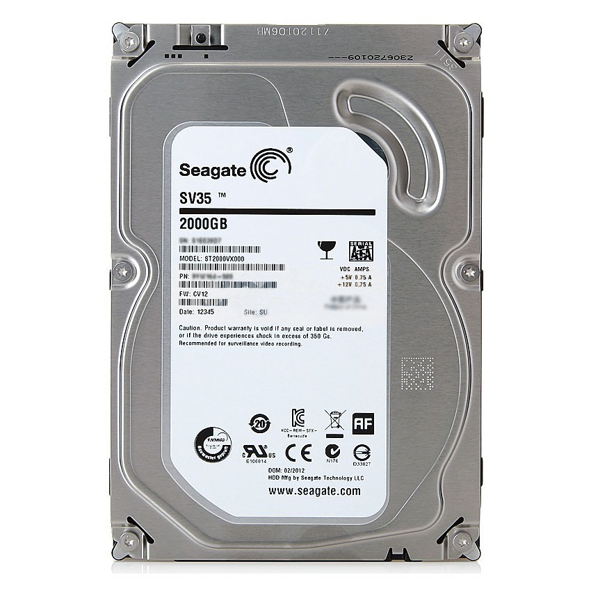 "Seagate SV35 2000GB 2TB 7200rpm SATA 6GB/s 3.5"" Hard Drive For Security Surveillance System"