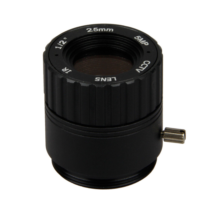 "5MP 1/2"" 25mm Long Range F2.4 CS Mount CCTV IR Fixed IRIS Lens"