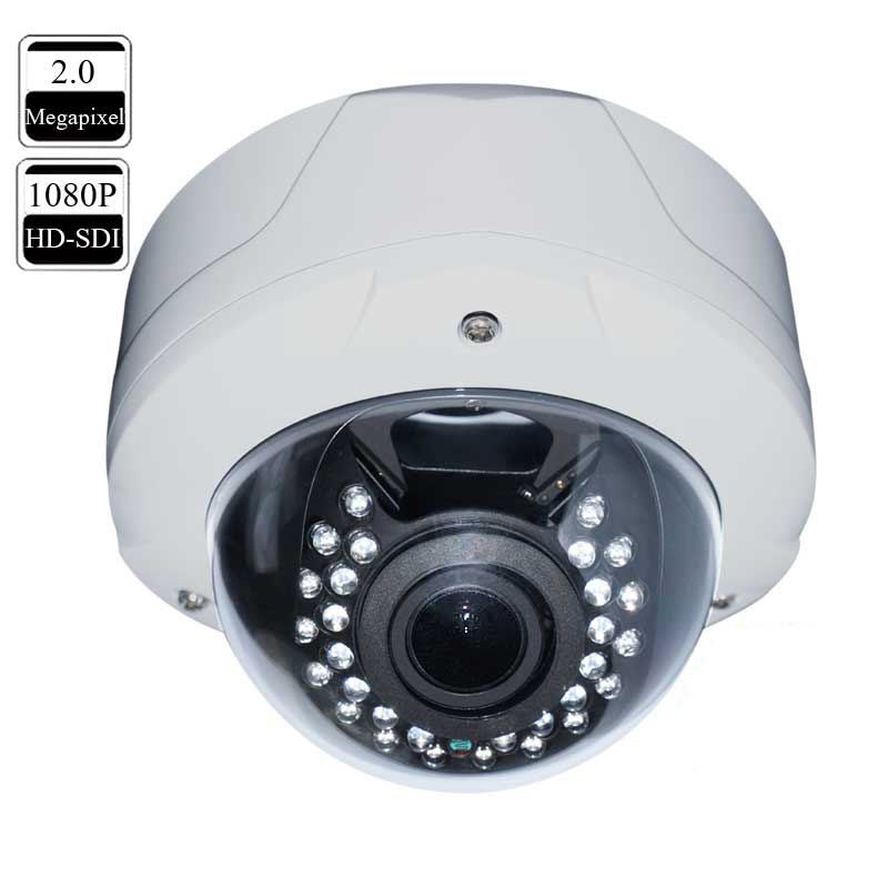 HD Security Surveillance SDI Dome Camera 1080P Vandal Proof 2.8-12mm
