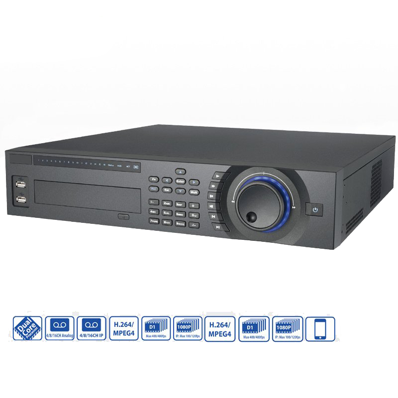 Dahua CCTV Security 8 Channel Full-D1 & 4 Channel 1080P Hybrid DVR Outlet