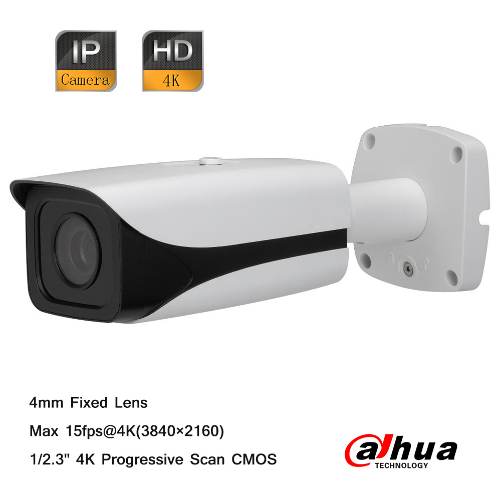 Dahua 4K Ultra HD 15fps 4mm Lens Network Outdoor IP66 Small IR-Bullet IP PoE Camera