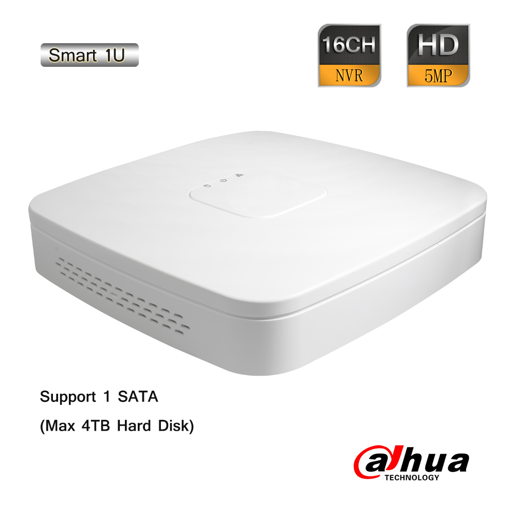 Dahua 16CH 5.0MP Smart 1U Network Video Recorder 80Mbps ONVIF 2.4 HDMI P2P H.264