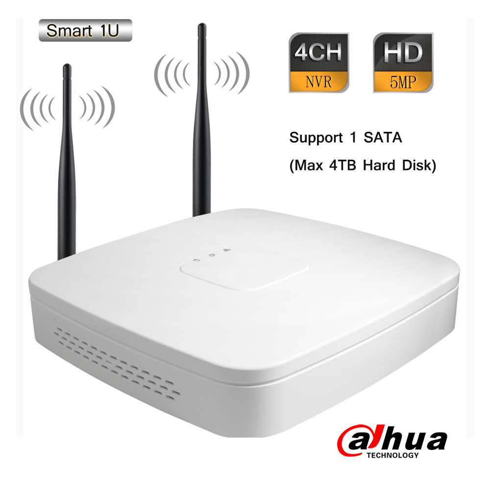 Dahua 4CH Smart 1U NVR 1920P 5.0MP 80Mbps ONVIF 2.4 P2P Wireless Wifi 1 SATA