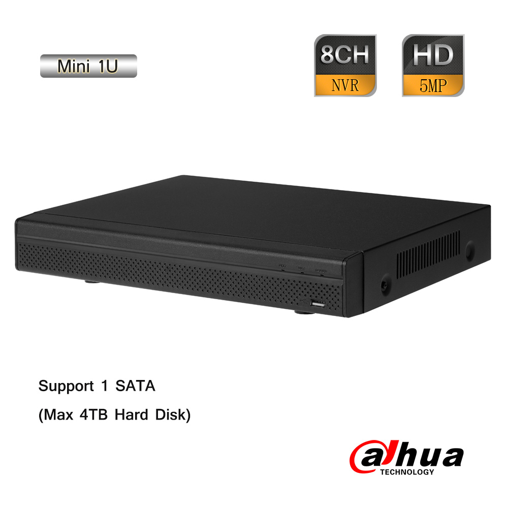 Dahua 8CH 1920P Mini 1U Network Video Recorder 80Mbps Two-way Talk ONVIF 2.4 P2P