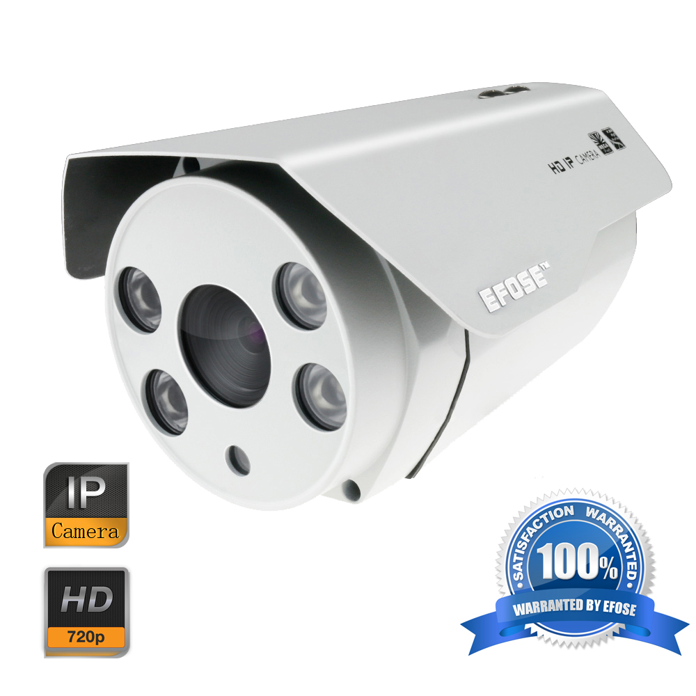 EFOSE 1MP 720P Network IP Camera CMOS ICR 4 Array Light Outdoor Waterproof CCTV Security Camera