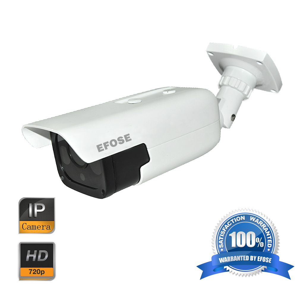 EFOSE 1MP 720P Network IP Camera CMOS ICR 4 Array Light Waterproof CCTV Security Camera
