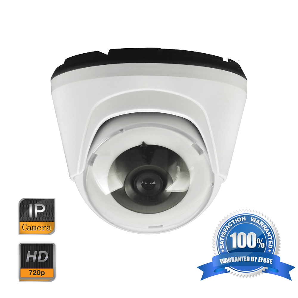 EFOSE 1MP 720P Network IP Dome Indoor CCTV Security Camera
