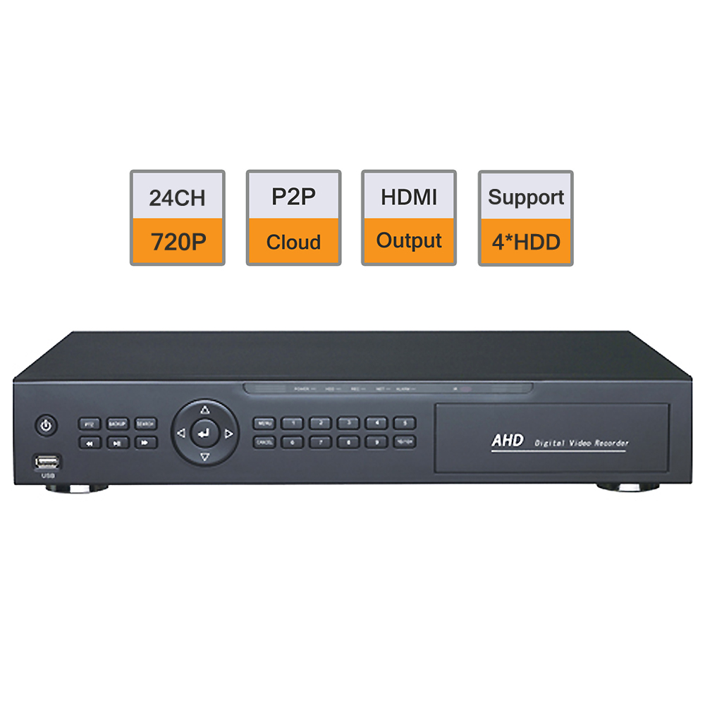 EFOSE H.264 24CH 720P Realtime Hybrid AHD DVR Compatible Common Analog Input