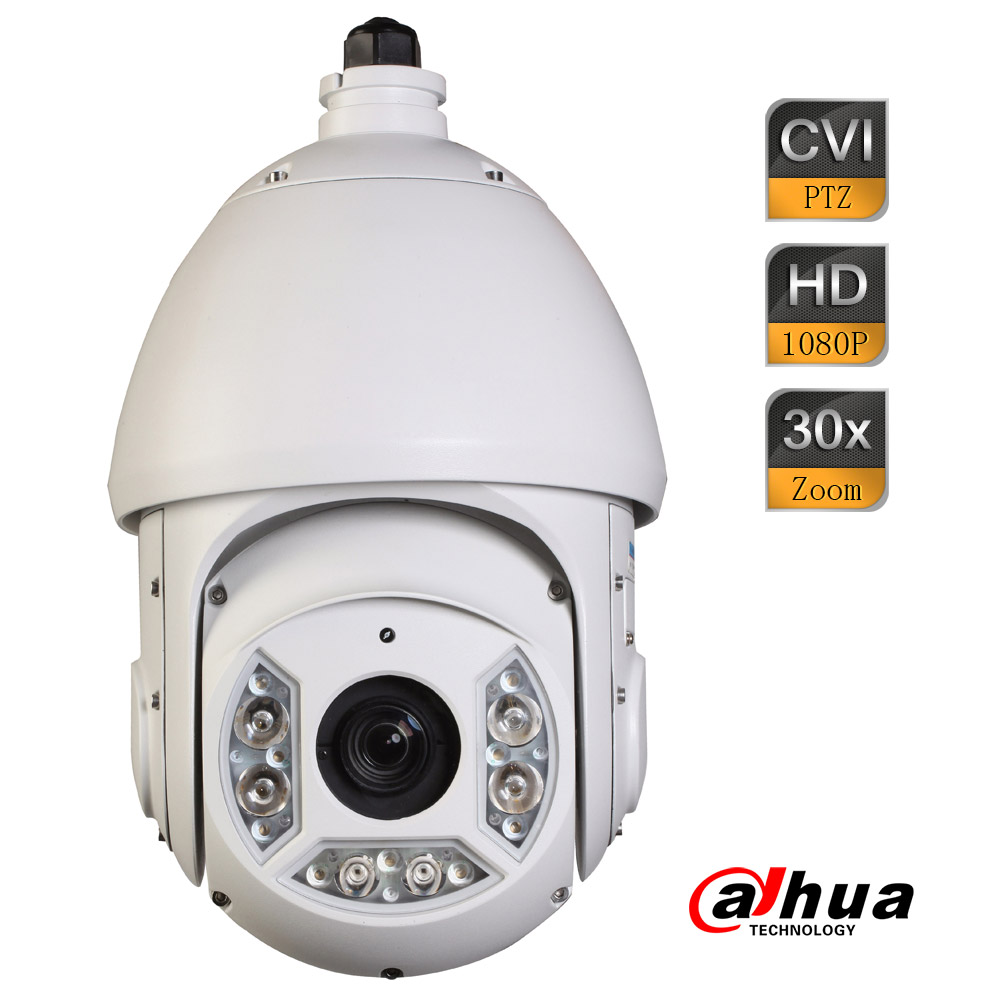 Dahua 2Mp 30x Full HD 1080P HDCVI 100m IR PTZ Dome Camera 4.3mm-129mm Lens